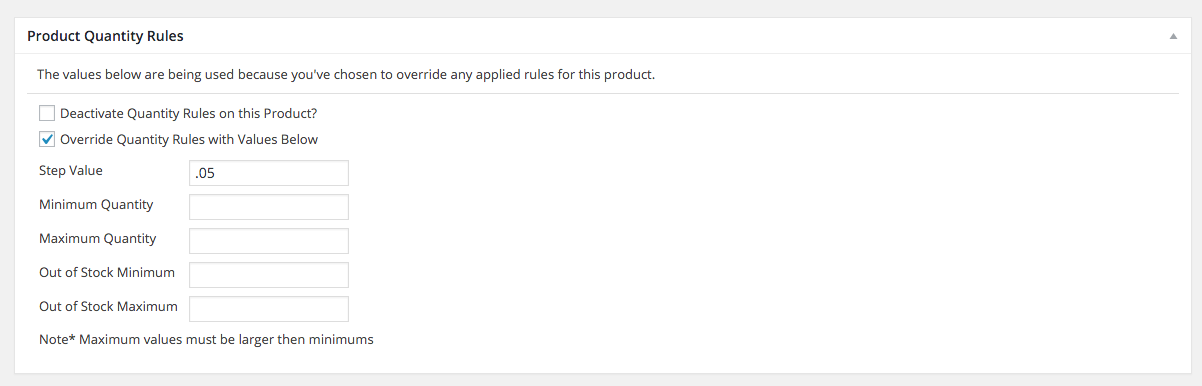 WooCommerce grocery product rules